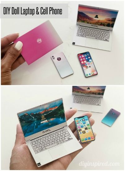 DIY Doll Cell Phones and Laptops - DIY Inspired