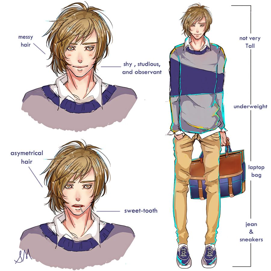 Draw yourself as a bishounen challenge by stefminnie