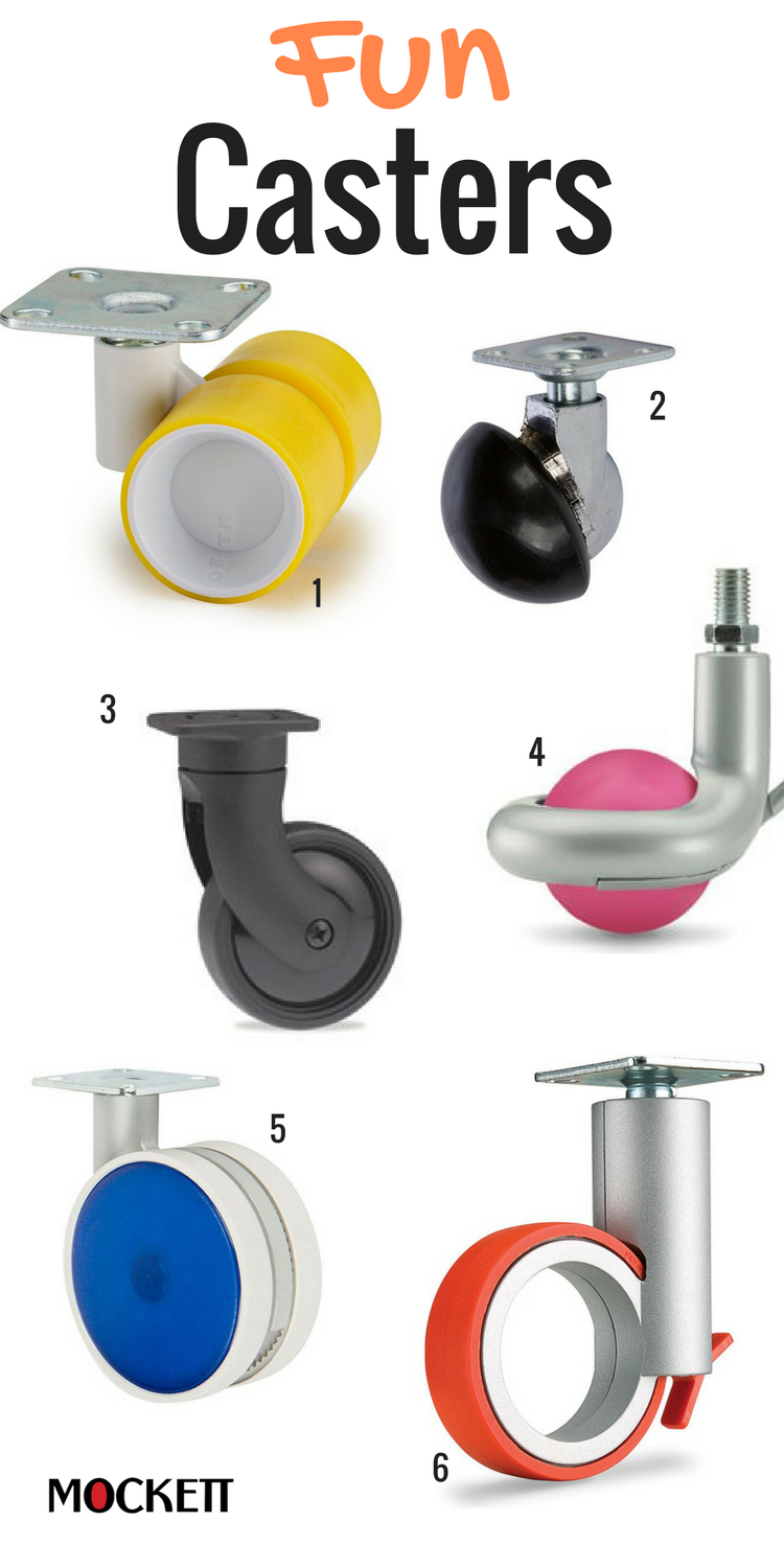 Casters That Will Complement Office Chairs And Furniture Modern Styles And Color To Give You Some Fun 1 Sp Furniture Wheels Caster Wheels Furniture Casters
