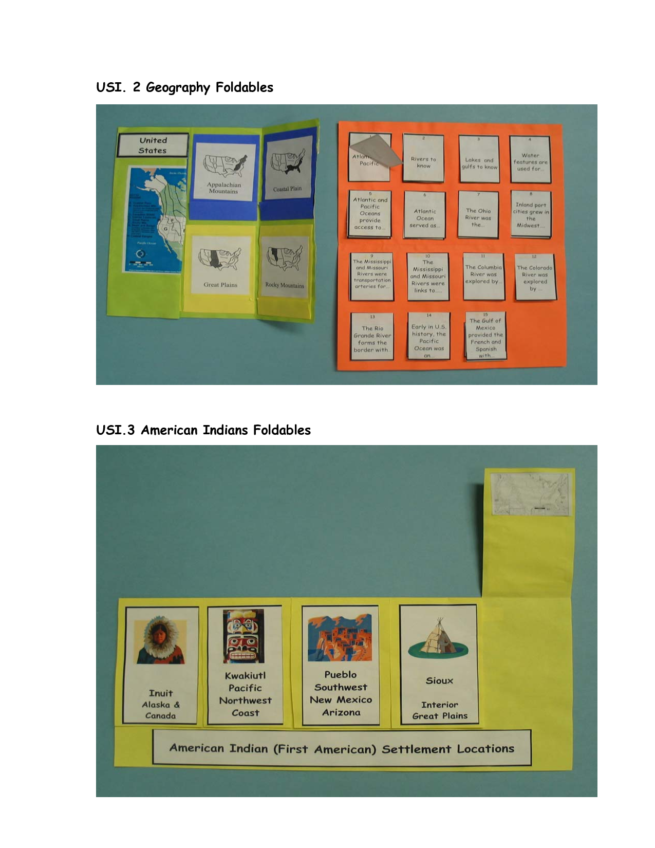 foldables | USI. 2 Geography Foldables