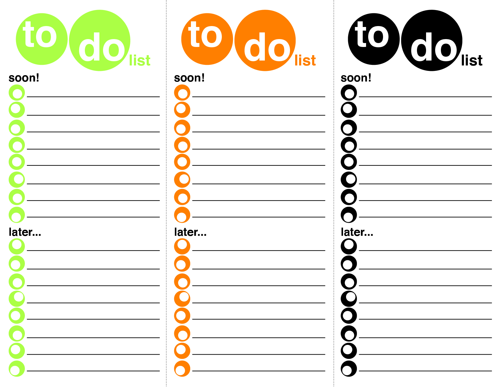 things to do lists template