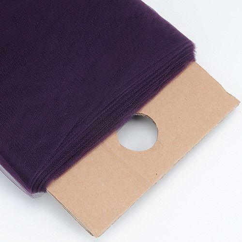 Plum 54 Inch Premium Tulle Fabric Bolt - 54 inch x 40