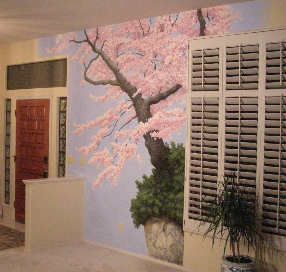 Cherry blossom wall mural these are the latest of for Cherry blossom tree mural