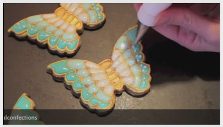 How to make a jewelled butterfly cookie - Montreal Confections