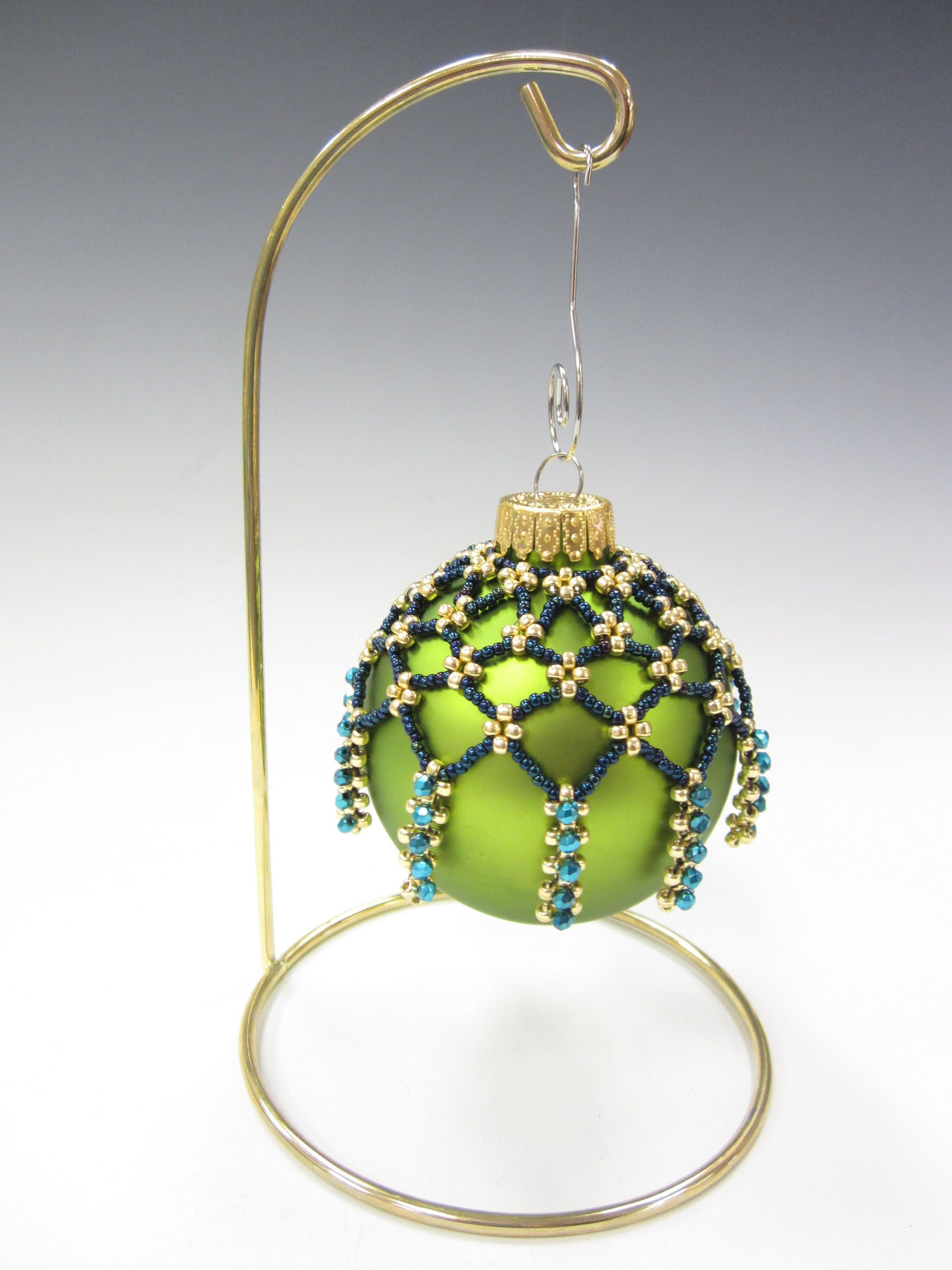Free Project Starry Night Ornament Cover Beaded Christmas Ornaments Beaded Christmas Decorations Christmas Bead