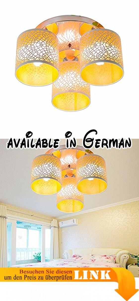 Moderne LED Deckenleuchte Leuchte Schlafzimmer Minimalistischen S Warm  Kinder Zimmer Balkon Orange Ohne Quelle 40*40*19 Cm. Ideale Dekoration    Weiu2026