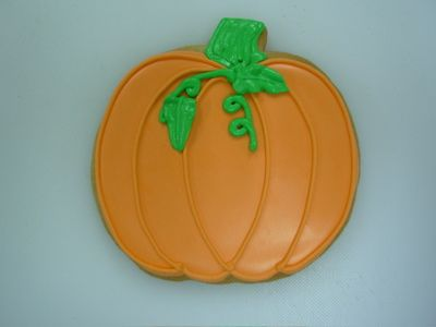 Pumpkin icing design for my new cookie cutter