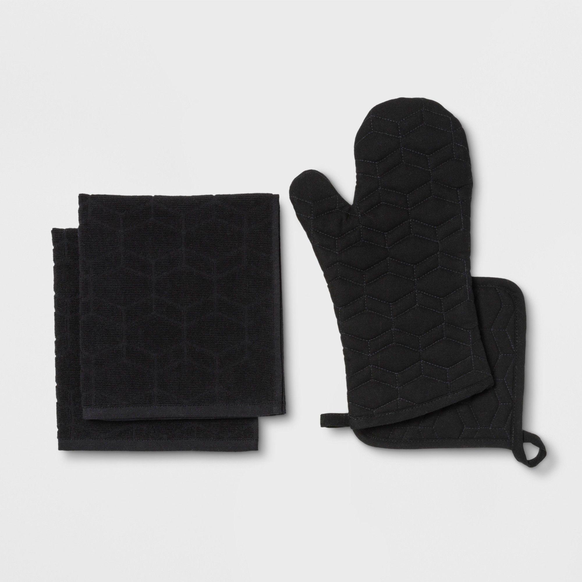 Kitchen Textile Set Black Room Essentials™ (With images