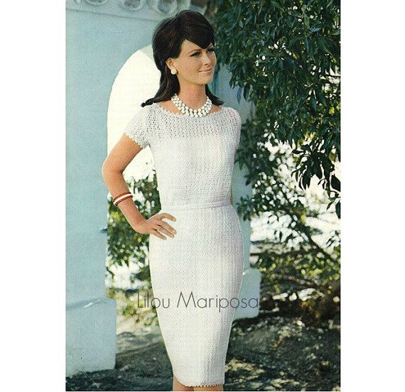 Crochet Dress Pattern Vintage 60s Crochet Wedding Dress Pattern ...