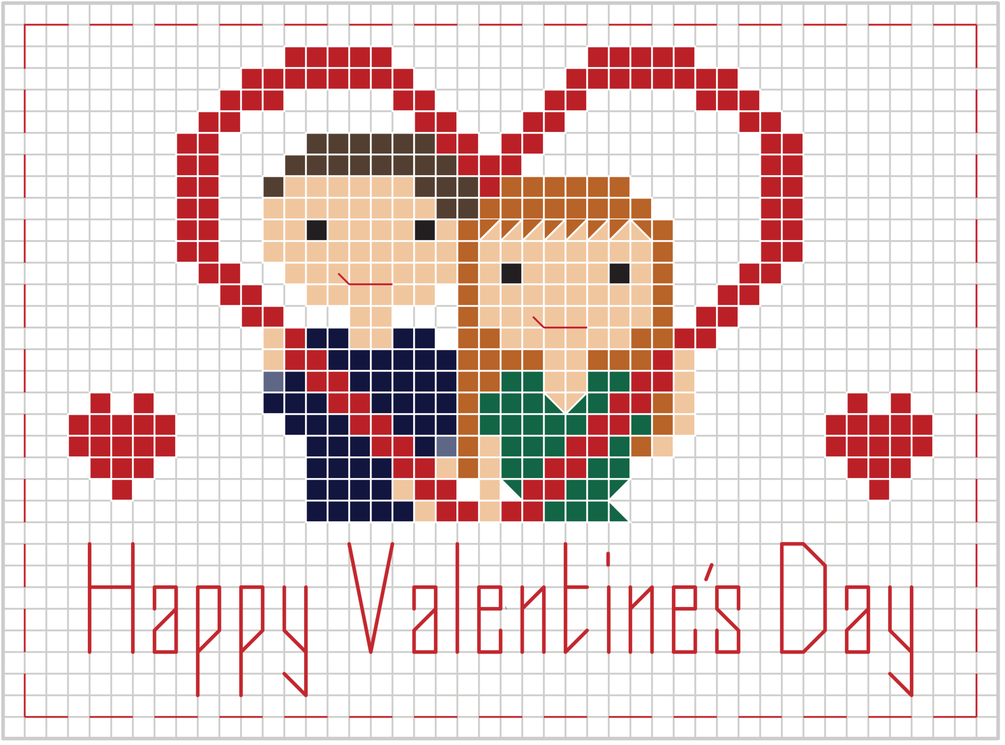 Free Valentine's Day Pattern from Stitch People Cross
