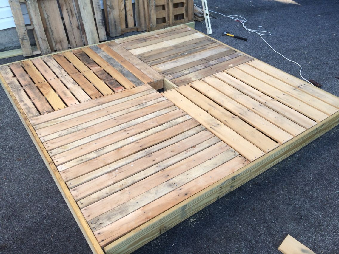 Work in progress small floating deck about 7 5 feet for Small floating deck