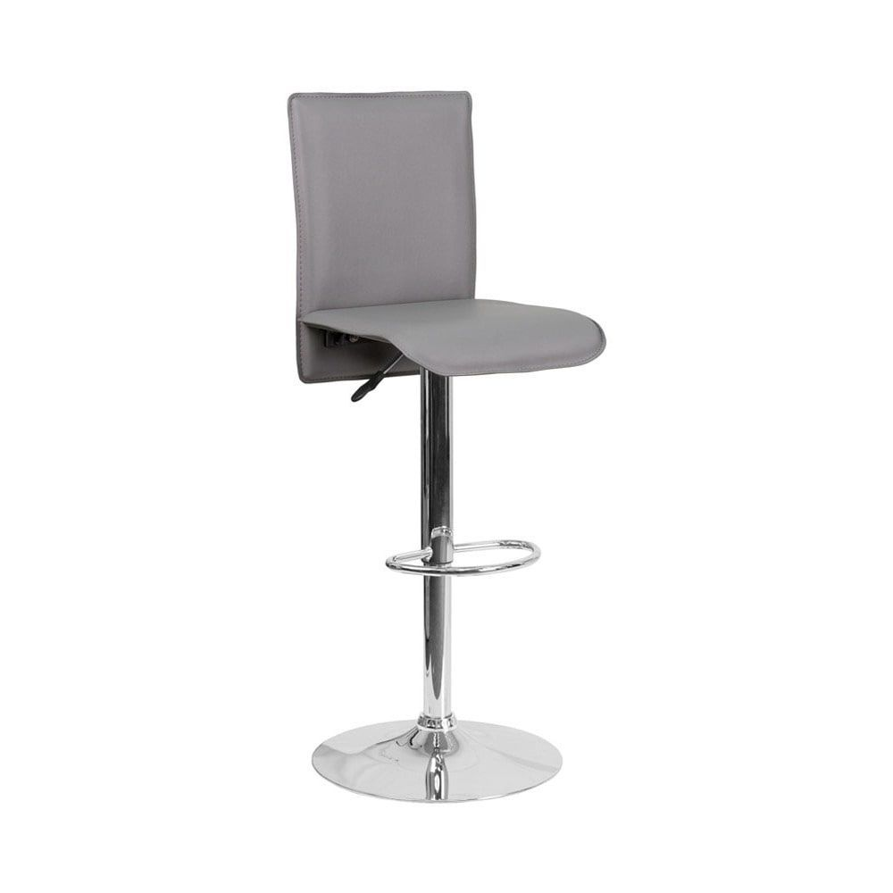 Sensational Offex Contemporary Grey Vinyl Adjustable Height Waterfall Gamerscity Chair Design For Home Gamerscityorg