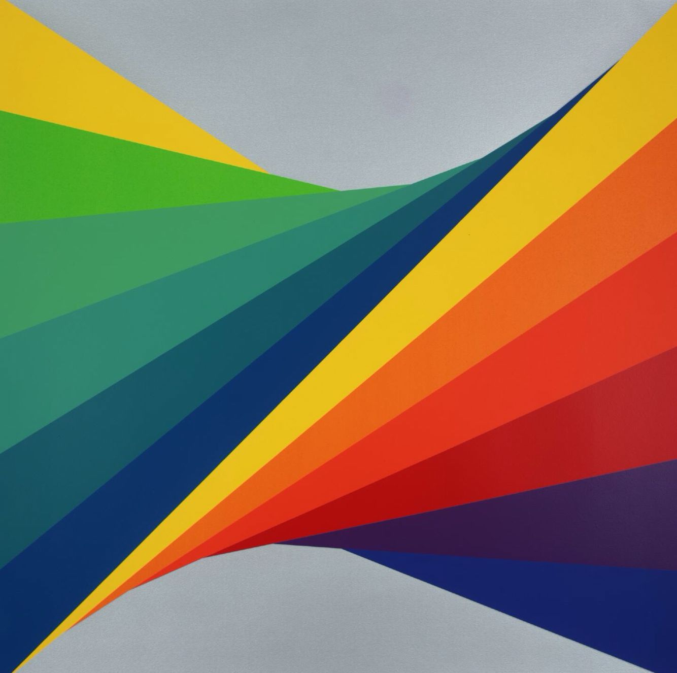 Herbert #Bayer - #Chromatic Twist, 1970. Bayer's #paintings, prints and designs continue to inspire young #graphic artists today and his typeface is used all over the world.