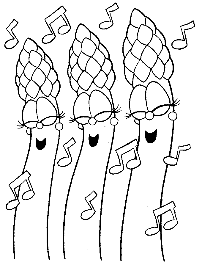 frveggie tales coloring pages Veggie Ta Free pizza Few