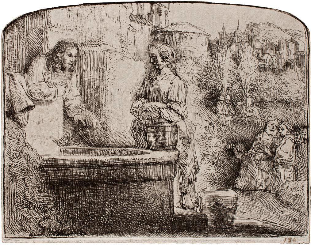 Rembrandt Van Rijn 1606-69 Christ & Woman Of