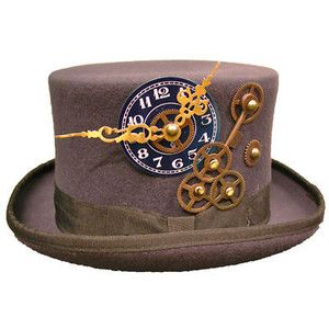 Raven Gothic Steampunk/victorian charcoal grey top hat - Polyvore