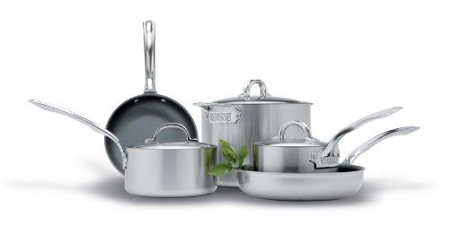 Viking VSC1011 8 Piece Stainless Steel Cookware Set With Nonstick Fry Pans