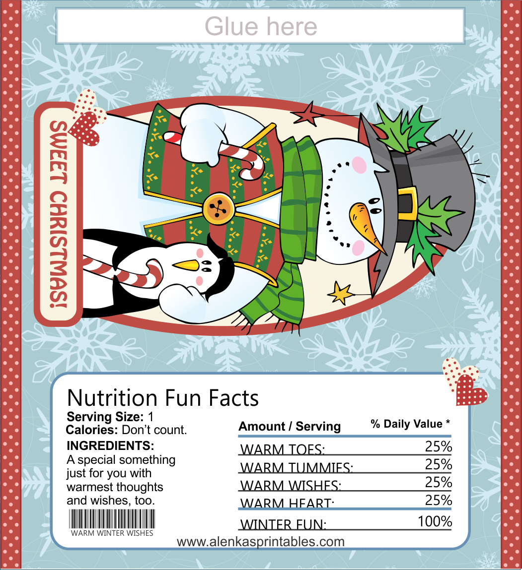 image regarding Free Printable Christmas Candy Bar Wrappers named Sweet bar wrapper Printable Xmas Printables 7 Sweet