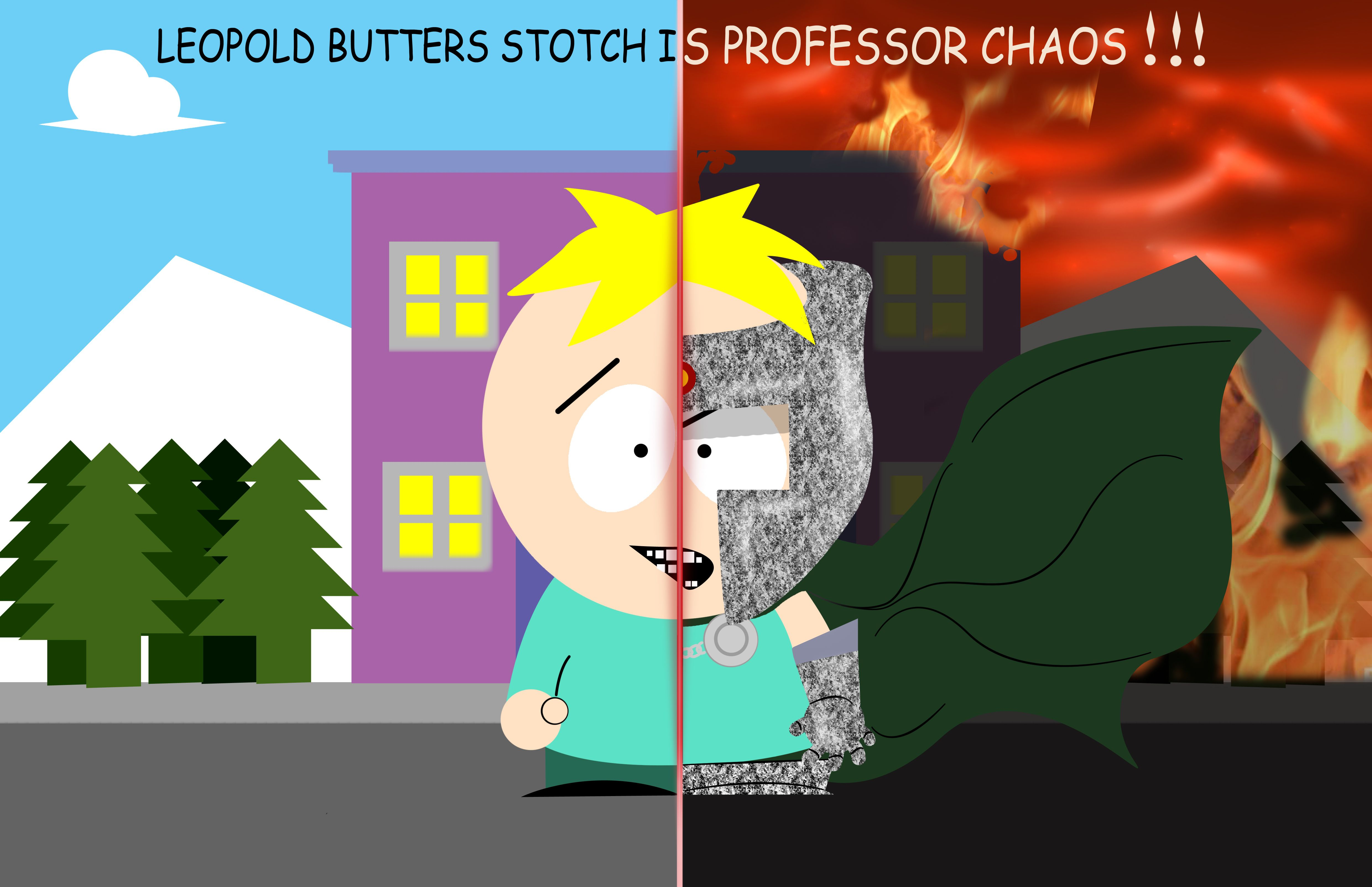 Professor chaos butters the infj south park park - South park wallpaper butters ...
