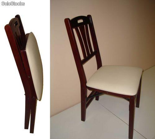 Silla plegable madera inspiraci n de dise o de for Silla escalera de madera plegable