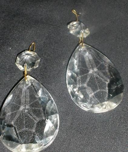 "Chandelier Crystals Lusters Set 2 Pair 3"" Long $15"