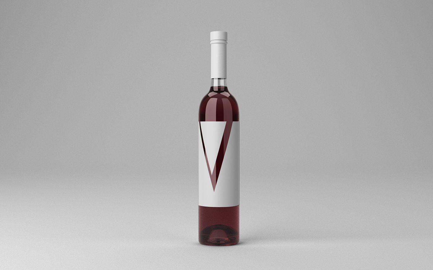 Free Wine Bottle Mock Up 31 2 Mb By Artem Yakimchuk On Behance Free Mockup Photoshop