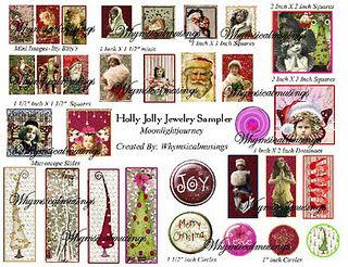 New Holiday Jewelry Sampler Digital Collage Sheet print and create yourself!