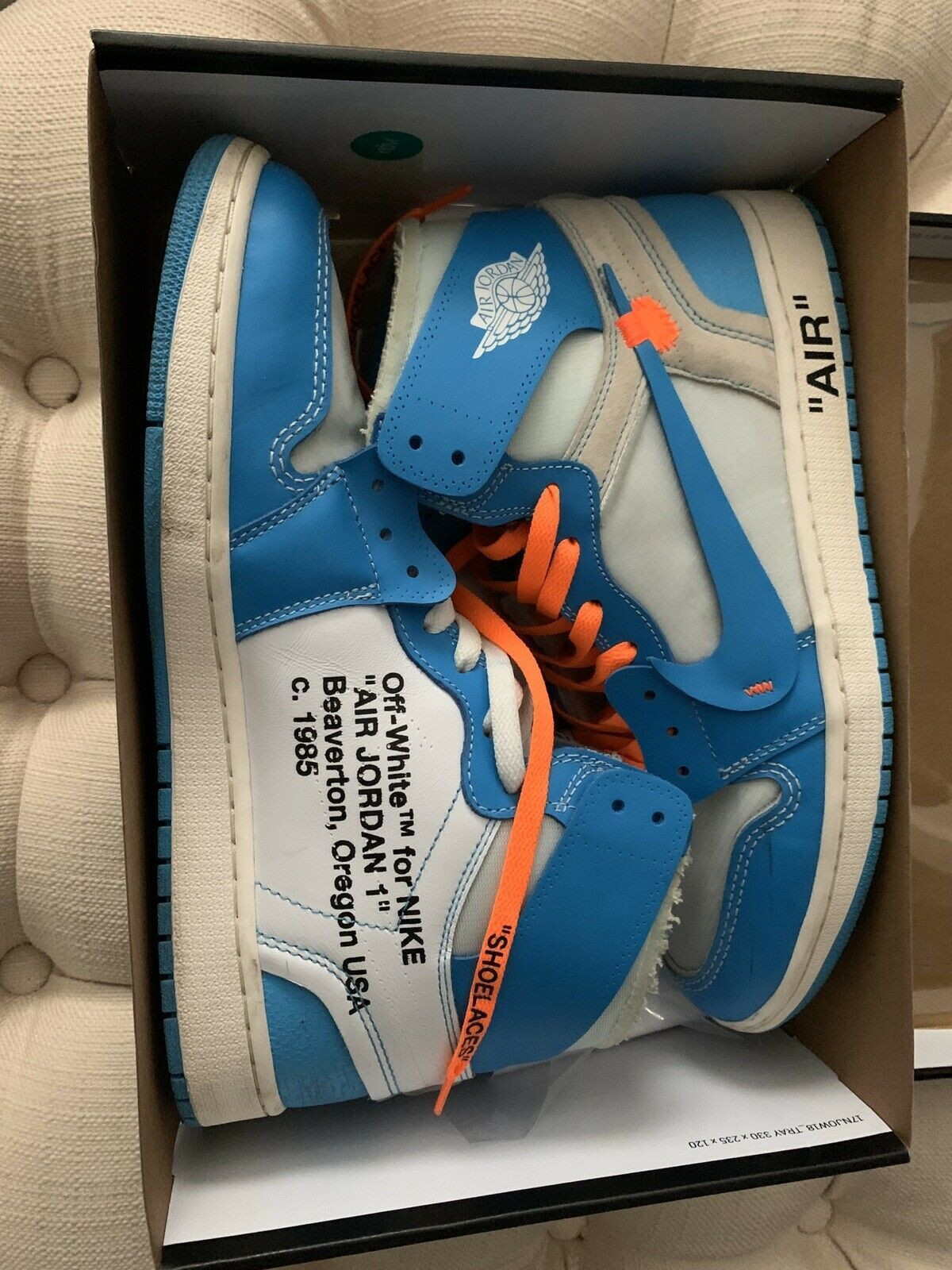 Nike Air Jordan 1 Retro Off White Unc Sz 12 In 2020 Hype Shoes