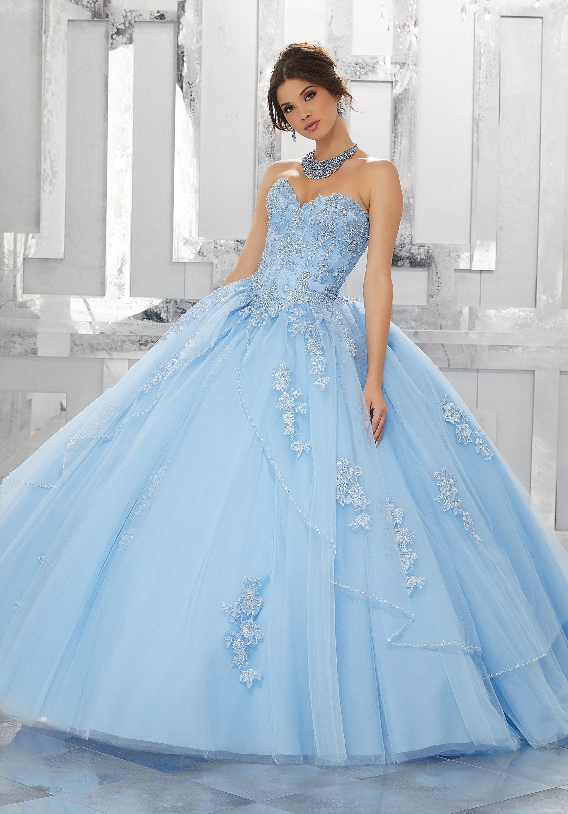 06f73bae09 A-line Strapless Quinceanera Dress by Mori Lee Valencia Style 60024