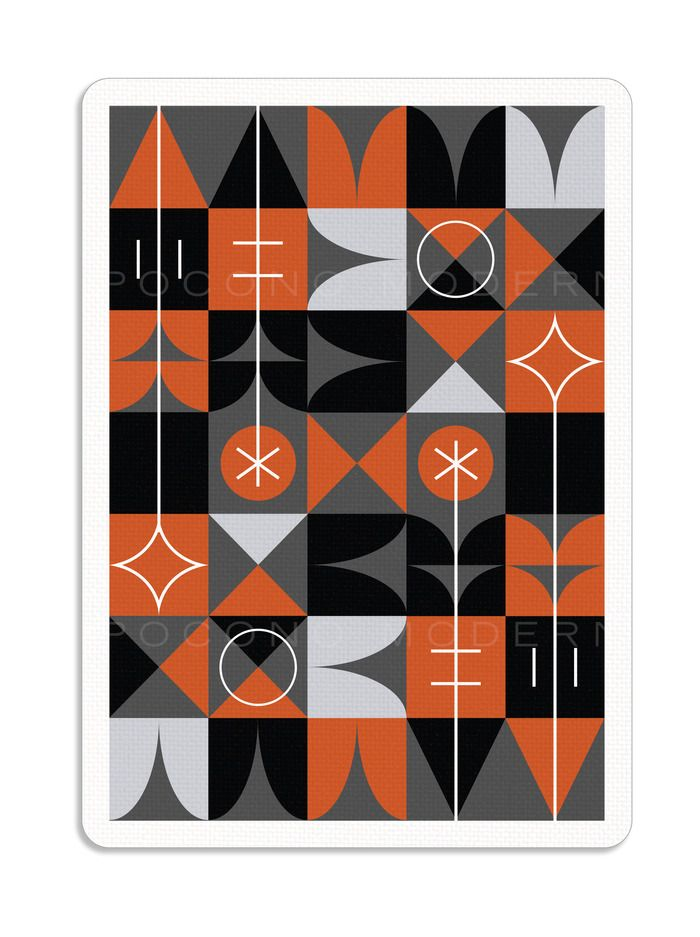 Mid Century Modern Playing Cards The Retro Deck By Pocono Modern