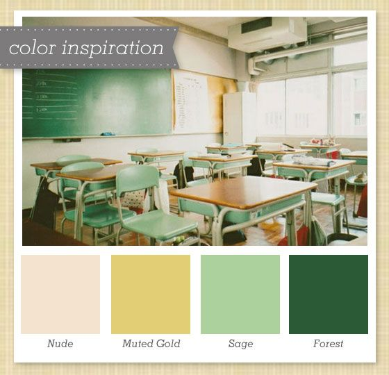 green gold and ivory color palette - Green And Gold Color Scheme