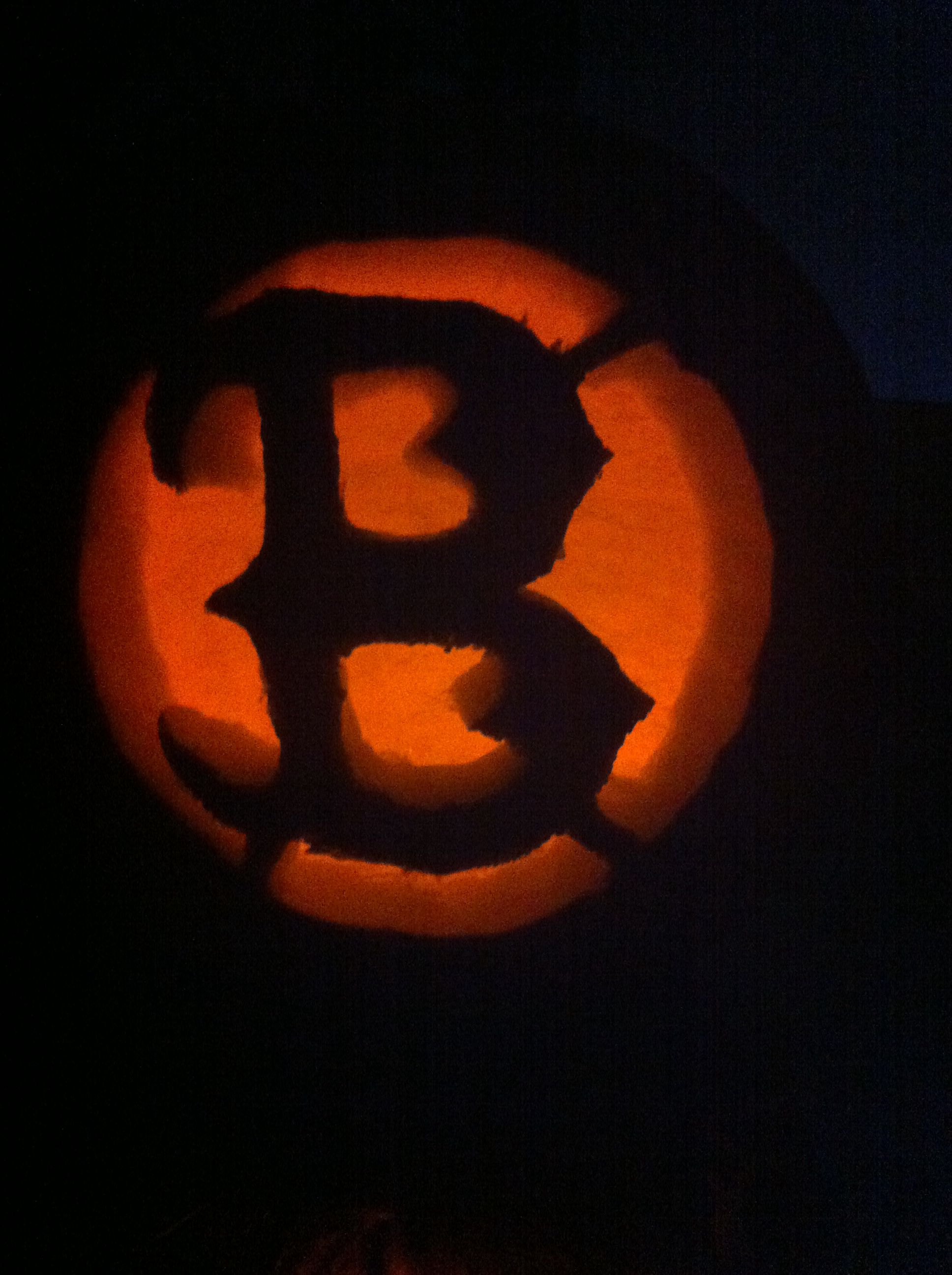 Red Sox Pumpkin I Carved Freehand Go Sox