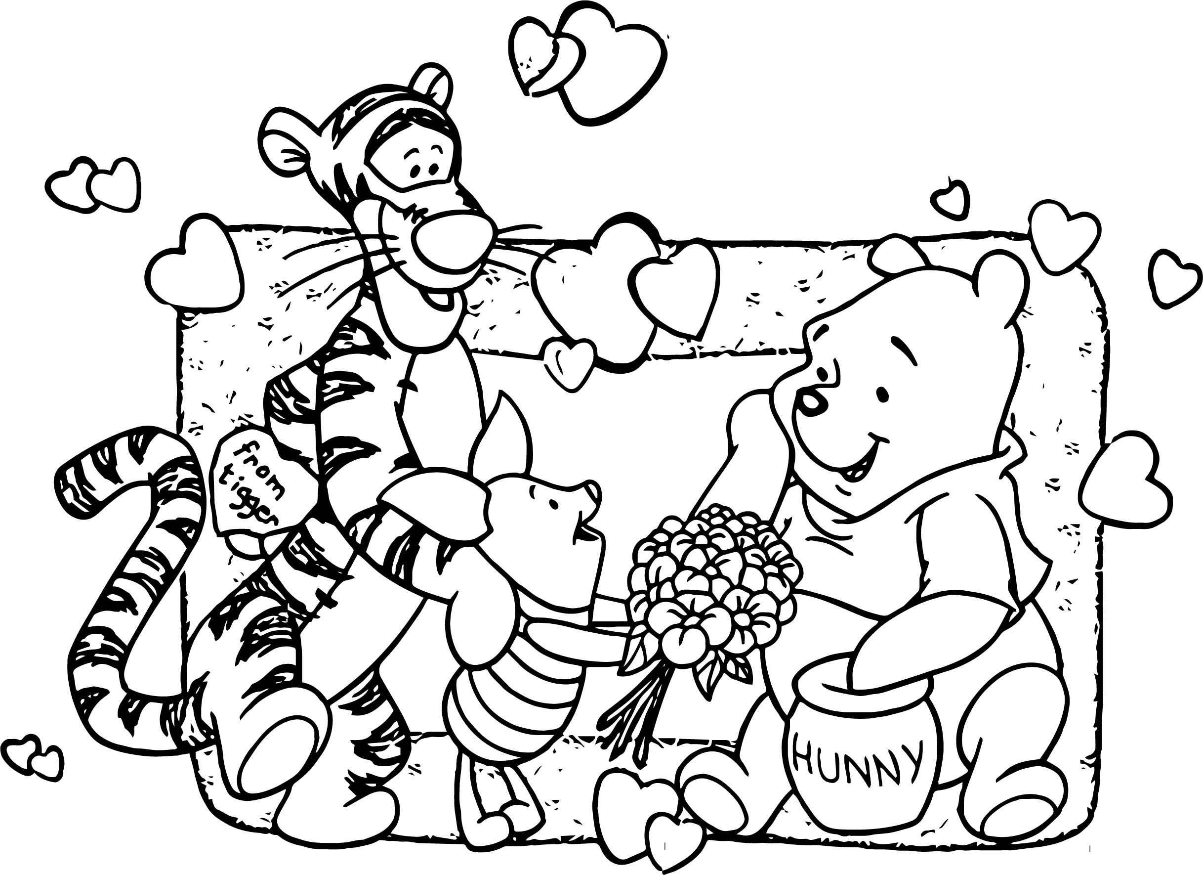 Baby Piglet Winnie The Pooh From Tigger Hunny Coloring
