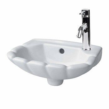 White Periwinkle Wall Mount Sink Renovators Supply Wall Mounted Bathroom Sinks Wall Mounted Sink Sink