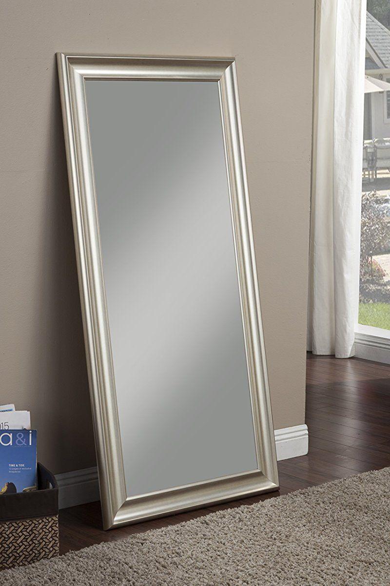 Sandberg Furniture Champagne Silver Full Length Leaner Mirror Leaner Mirror Full Length Mirror Leaning Mirror