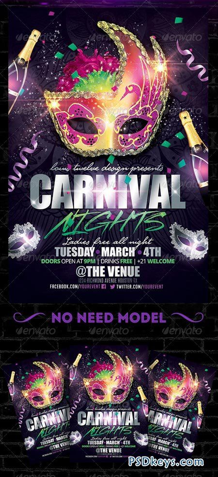 Carnival Poster Template Carnival Nights Flyer Template  Poster