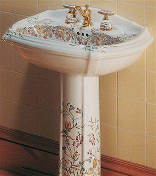 Kohler Portrait Pedestal Sink.Kohler 14192 Fl 0 English Trellis Design Portrait Pedestal