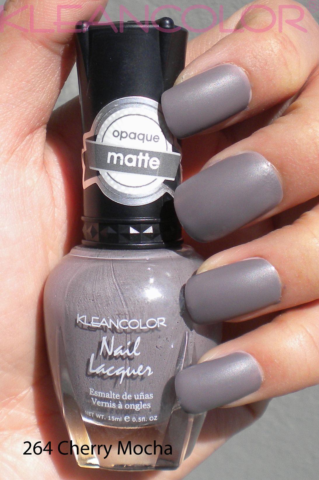 264 Cherry Mocha #mattepolish #matte #polish   Matte Nail Lacquer ...