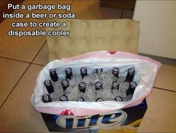 Life Hacks: Make a Disposable Beer Cooler