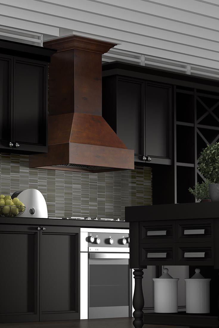 The Zline Kitchen 355vv Craftsman Wall Mount Wood Range Hood Has A - Wood-backsplash-exterior