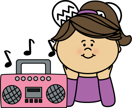 girl listening to music from mycutegraphics com listen to the rh pinterest com