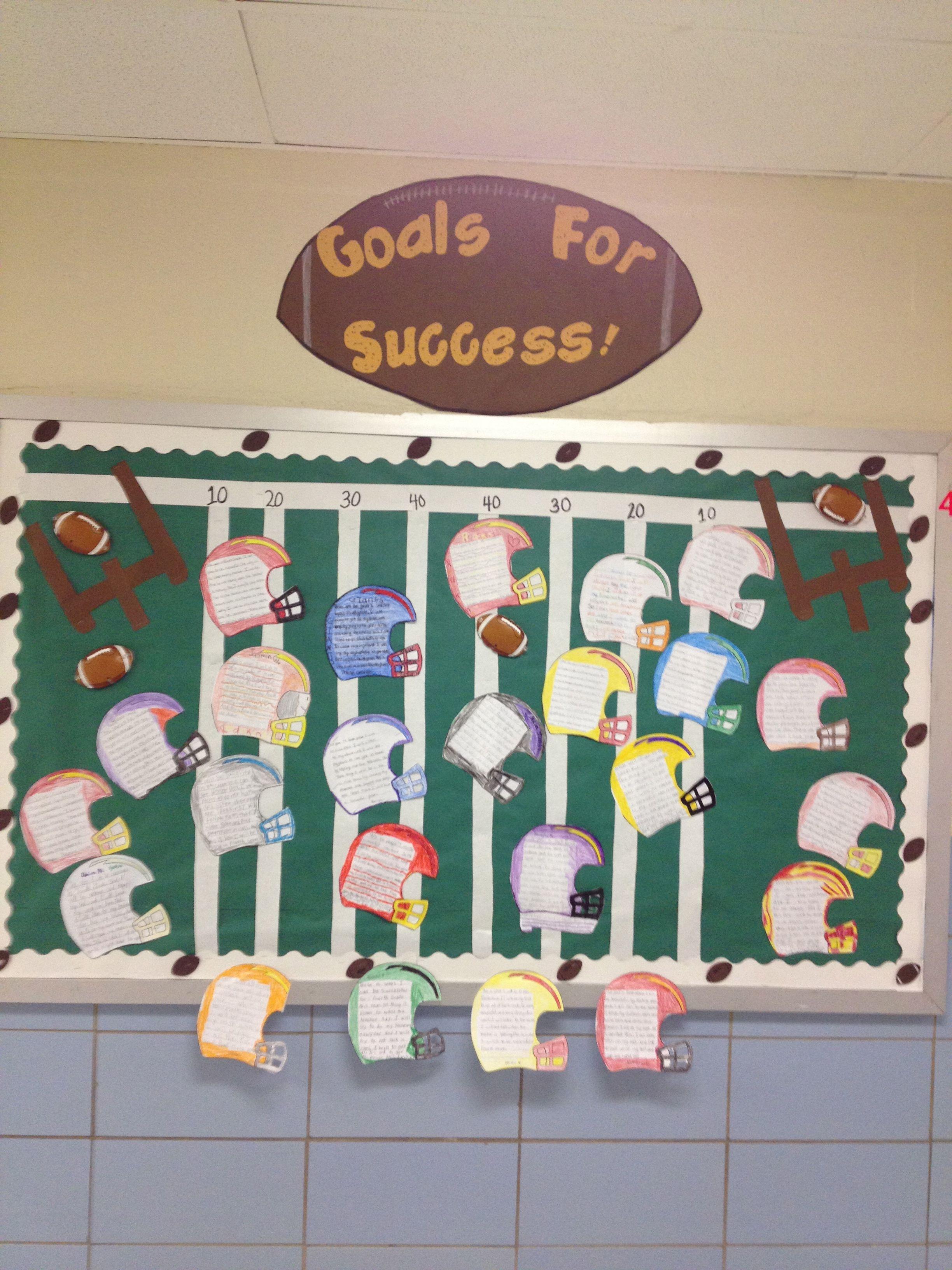 Ms Ws Goal Setting Board Goal Tracking Bulletin Board Ideas
