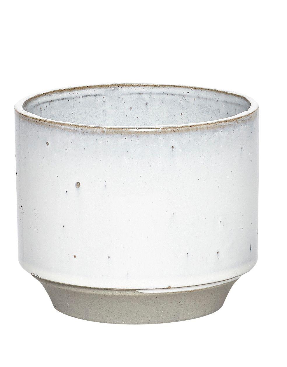 Hubsch Planter Ceramic White/Grey - Large: Indoor planter. White ...