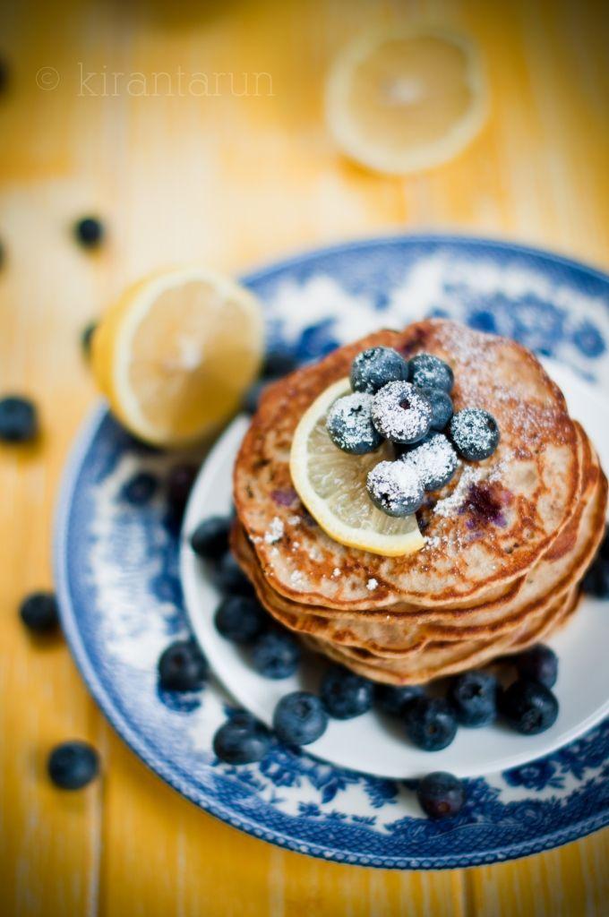 Blueberry Lemon Pancakes   KiranTarun.com
