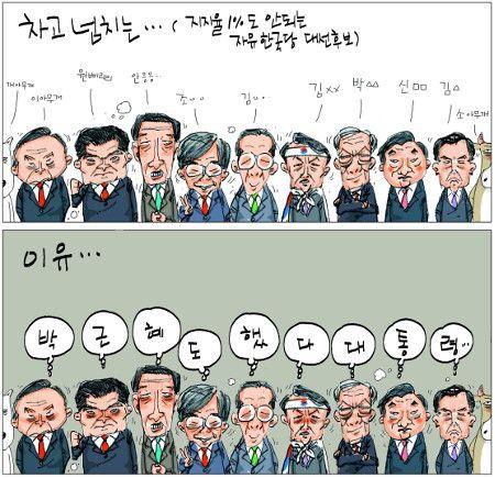 [국민만평-서민호 화백] 자유당 대선후보 난립 이유…