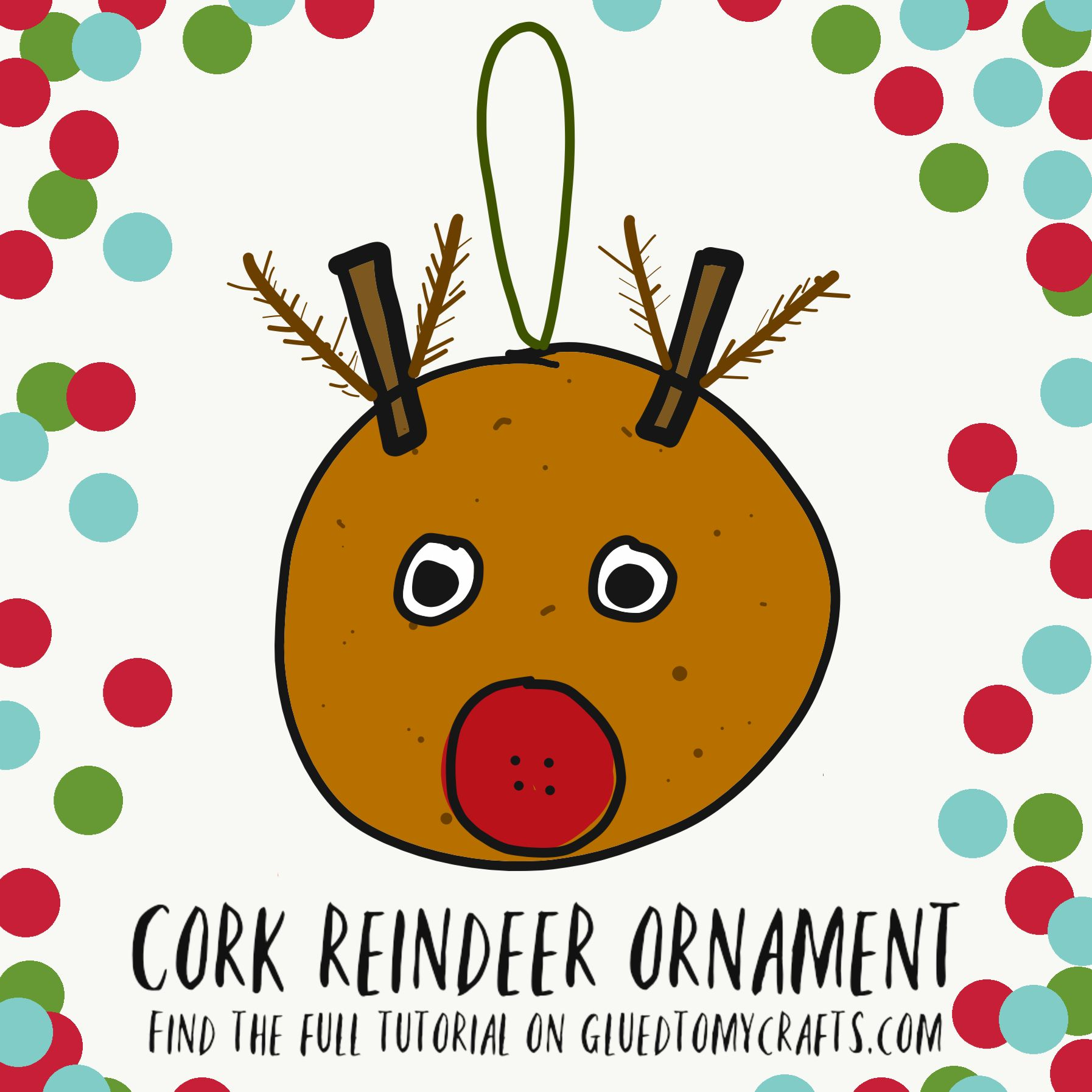 Diy Cork Reindeer Ornaments To Make For The Christmas Tree