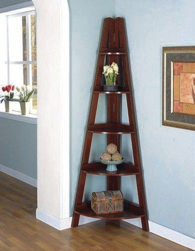 Bookcases Casual Corner Shelf By Coaster Home Furnishings 222 91 This Mahogany Bookshelf Fits Nicely Into Any To Add The
