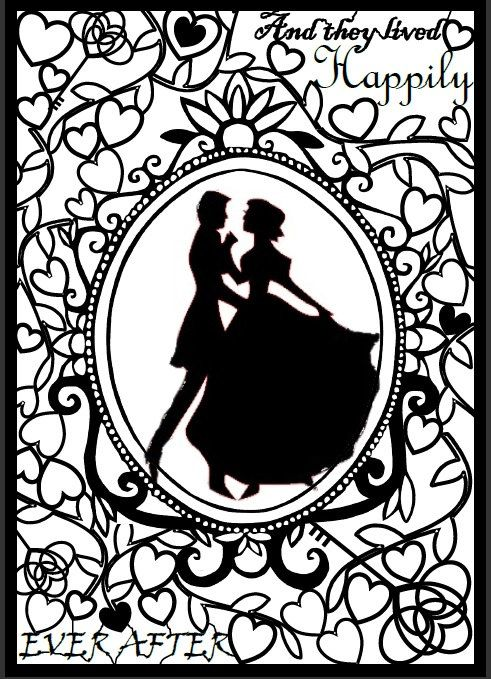 paper cut art template wedding fairytale template size a4 drawing