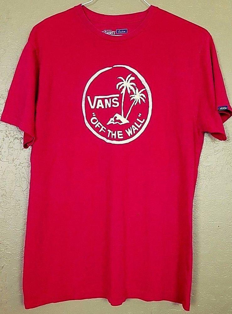 7698b2603e Mens VANS Off The Wall Size XL Short Sleeve Red Palm Trees Island Logo  T-Shirt  VANS  GraphicTee