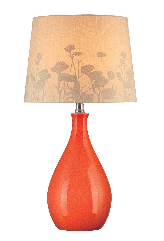 Really cool shadow lamp shade orange base table lamp